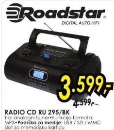 Radio CD Ru 295/bk