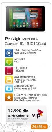 Tablet Multipad 4 Quantum 10.1 5101C Quad