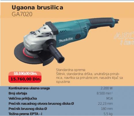 Ugaona brusilica GA7020, MAKITA