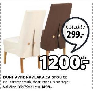 Navlaka za stolice Dunhavre