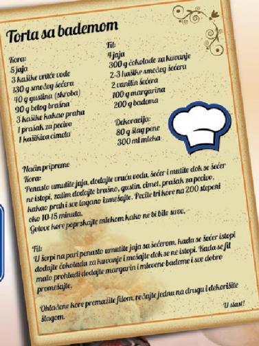 Recept Torta sa bademom