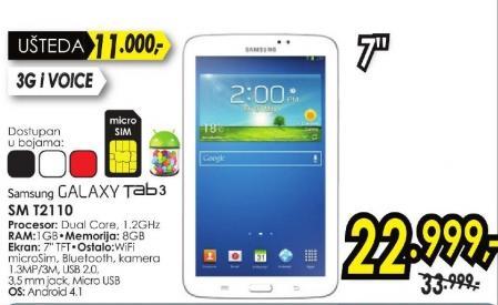 Tablet Galaxy Tab3 Sm T2110