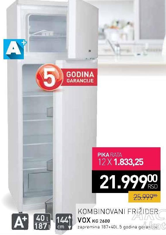Frižider kombinovani KG2600