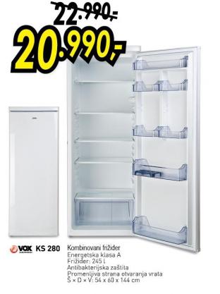 Kombinovani frižider KS 280