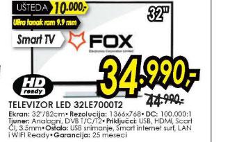 Televizor LED LCD 32LE7000T2