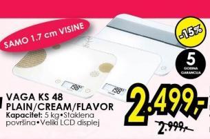 Kuhinjska vaga Ks 48 Plain/Cream/Flavor