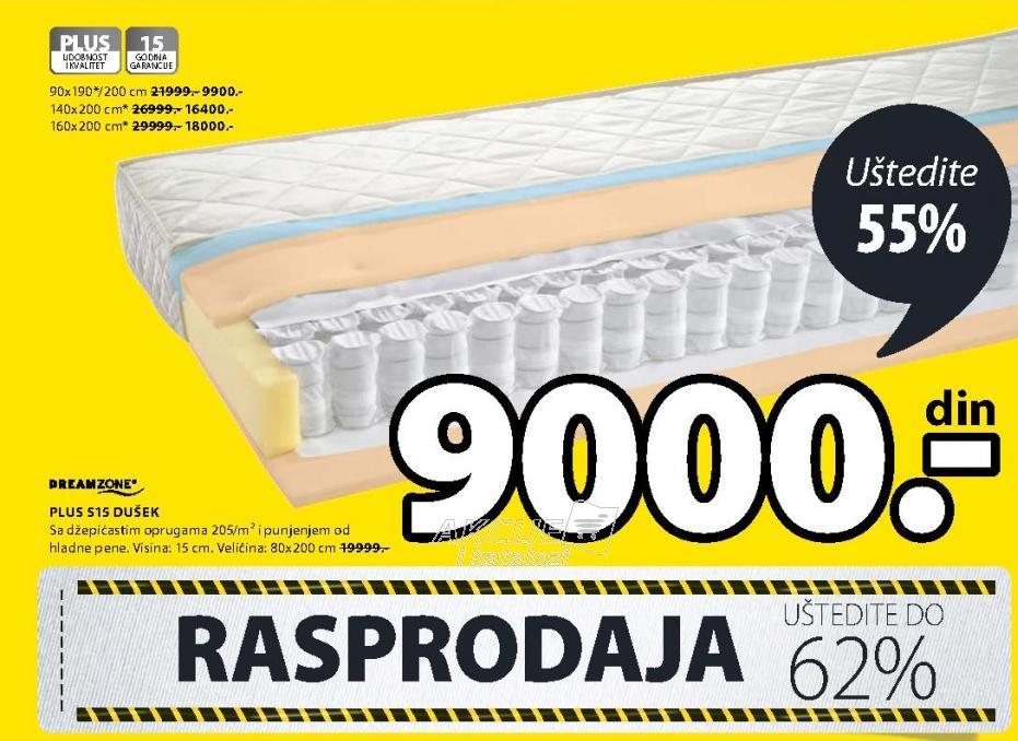 Dušek Plus S15 160x200cm