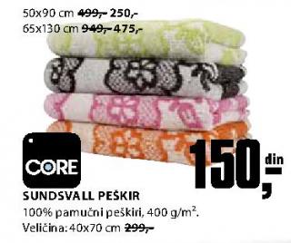 Peškir Sundsvall 40x70 cm - Core