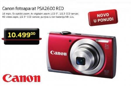 Digitalni fotoaparat Psa2600 red