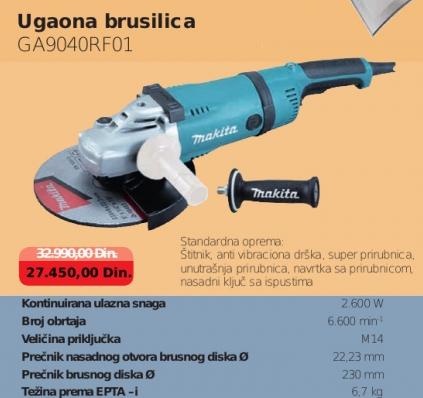 Ugaona brusilica GA9040RF01, MAKITA