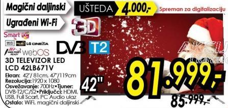"""Televizor LED 42"""" 3D 42lb671v"""