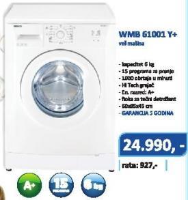 Mašina Za Veš WMB 61001 Y+