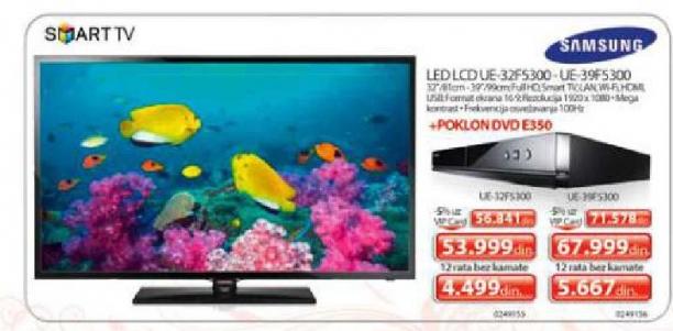 Televizor LED LCD UE-39F5300 + DVD E350