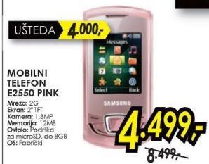Mobilni telefon E2550, Pink