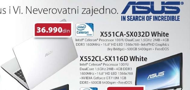 Laptop Asus X551CA-SX032D
