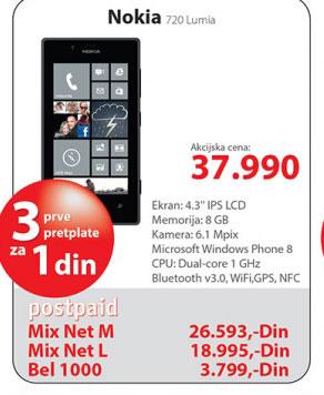 Mobilni telefon 720 Lumia