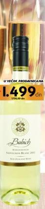 Belo vino Babich Sauvignon blanc