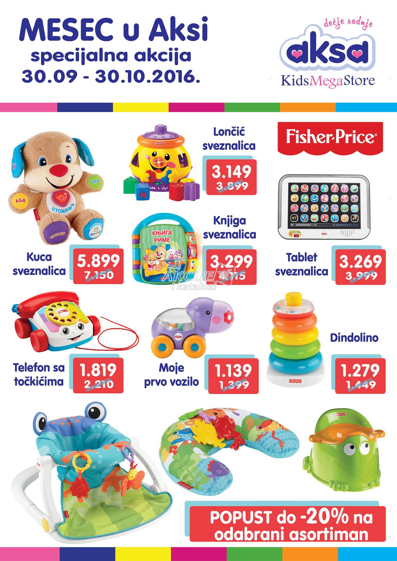 Aksa - Redovna akcija Fisher price igračaka