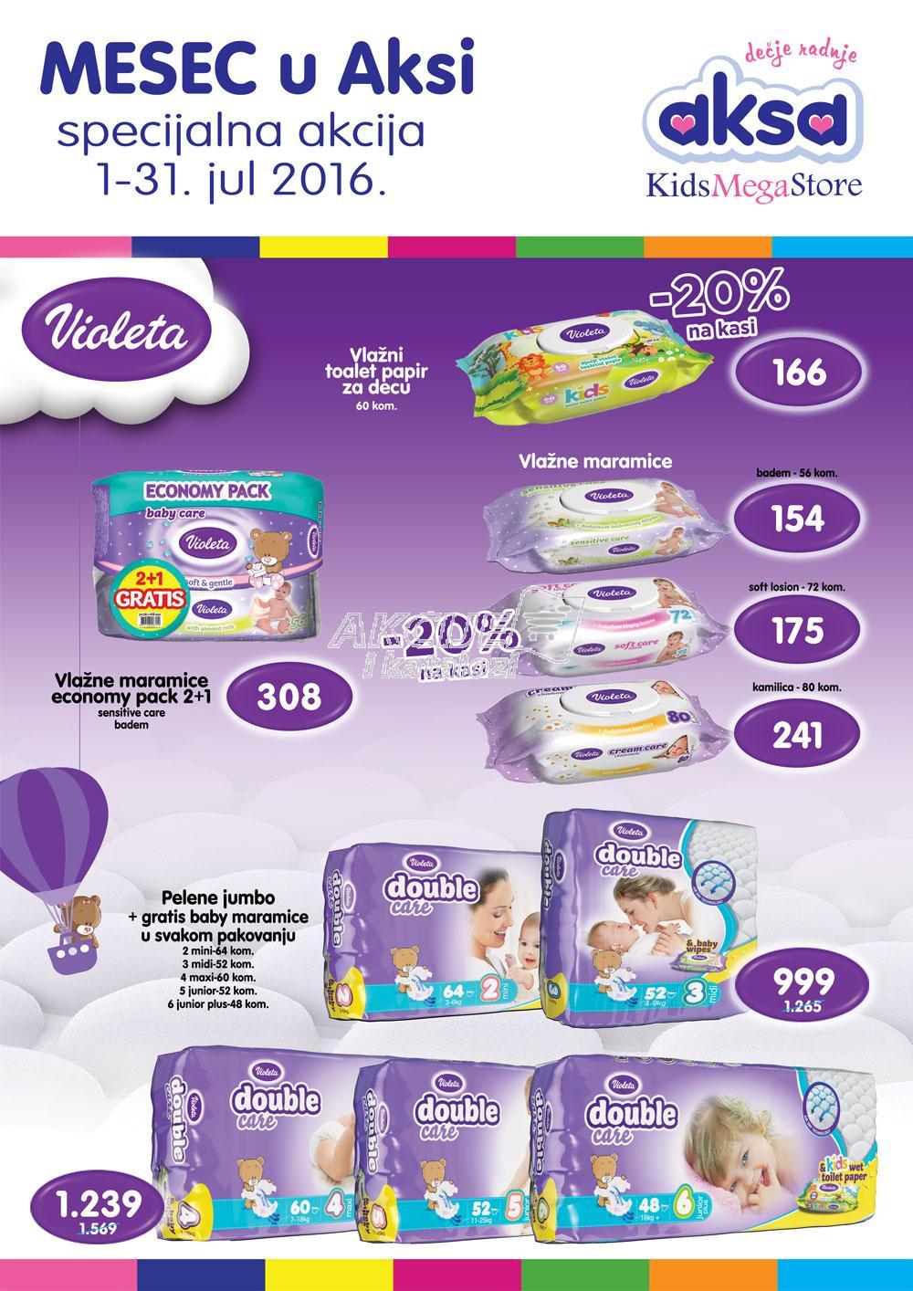 Aksa - Redovna akcija najbolje za vašu bebu