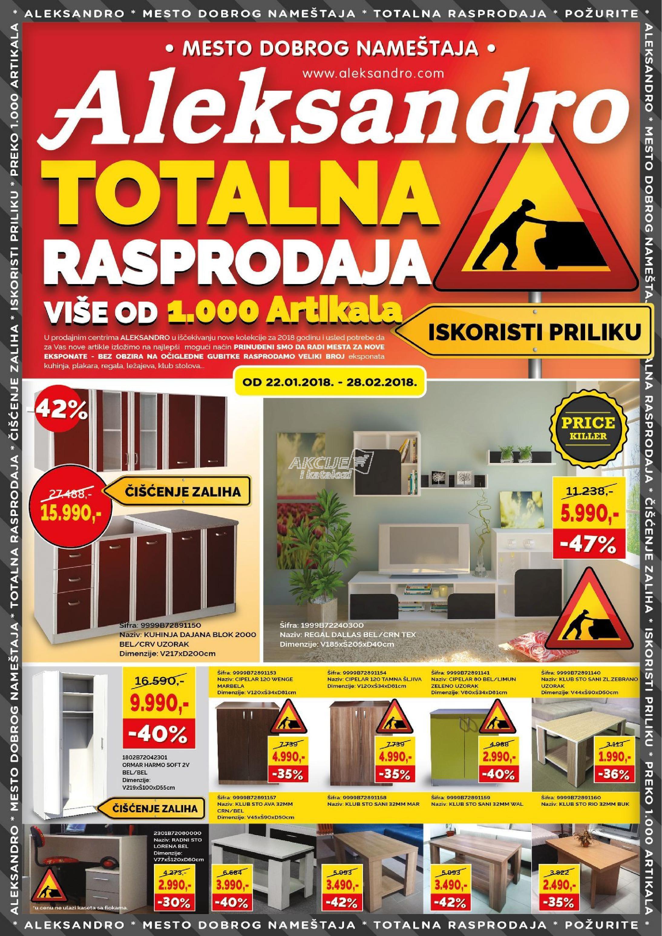 Aleksandro - Redovna akcija totalne rasprodaje