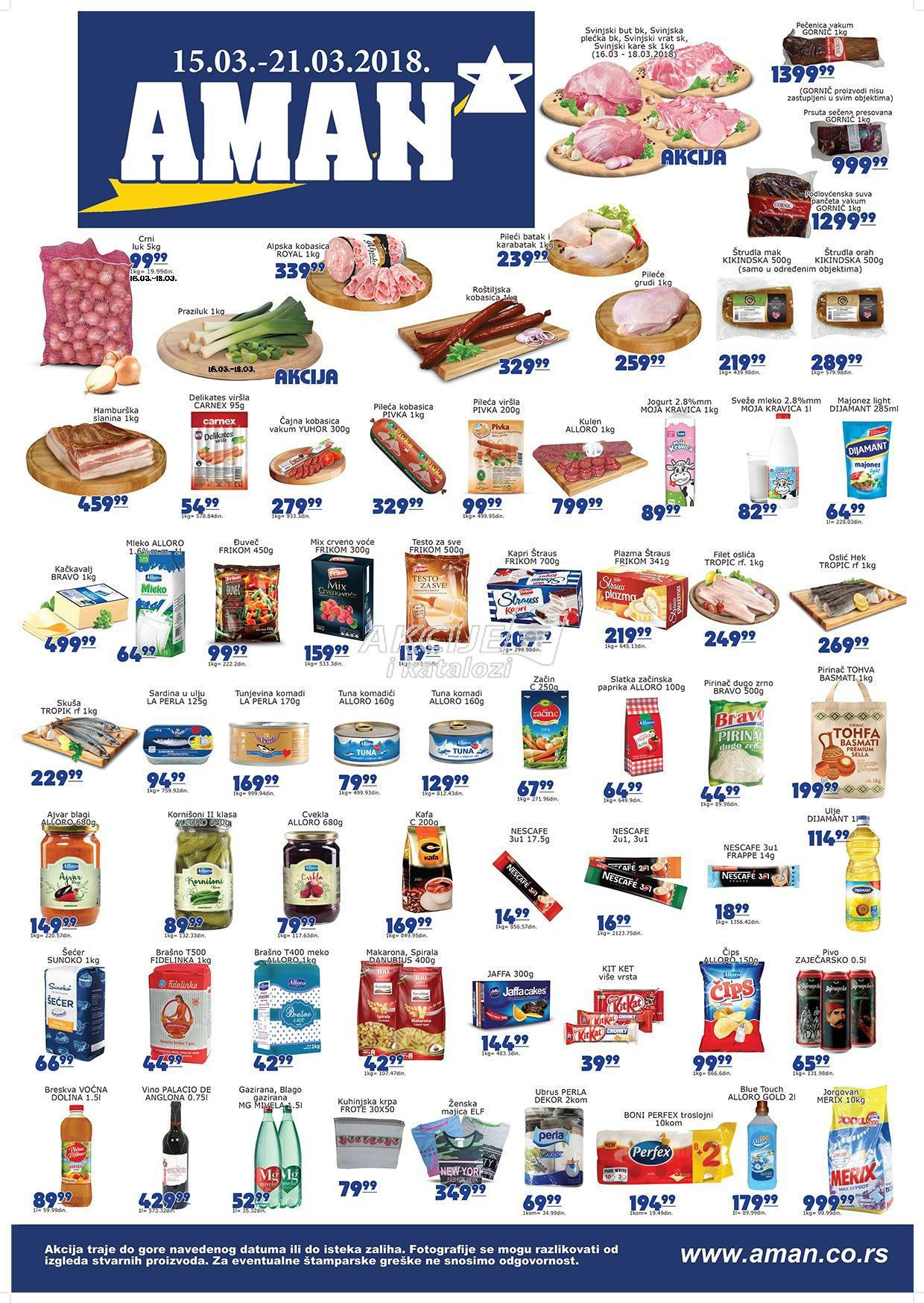 Aman - Redovna akcija nedeljne kupovine