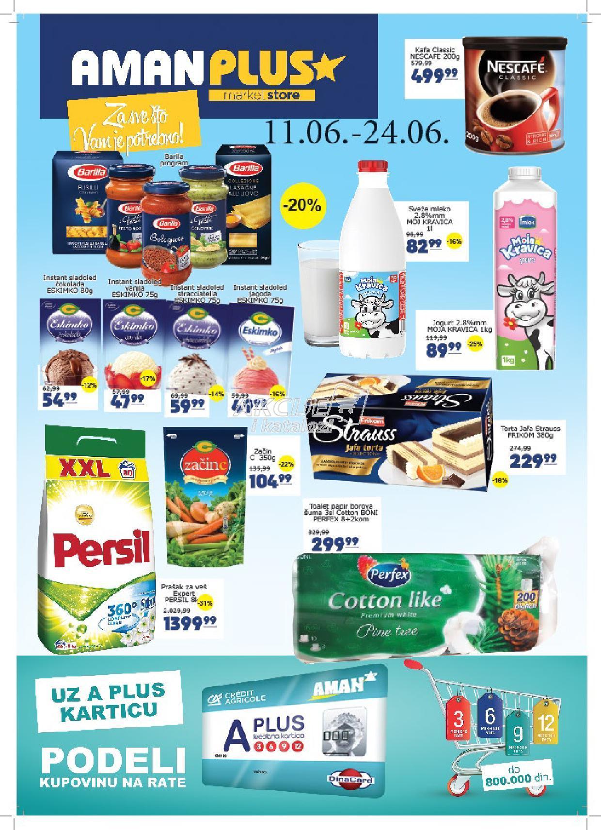 Aman Plus - Redovna akcija odlične kupovine