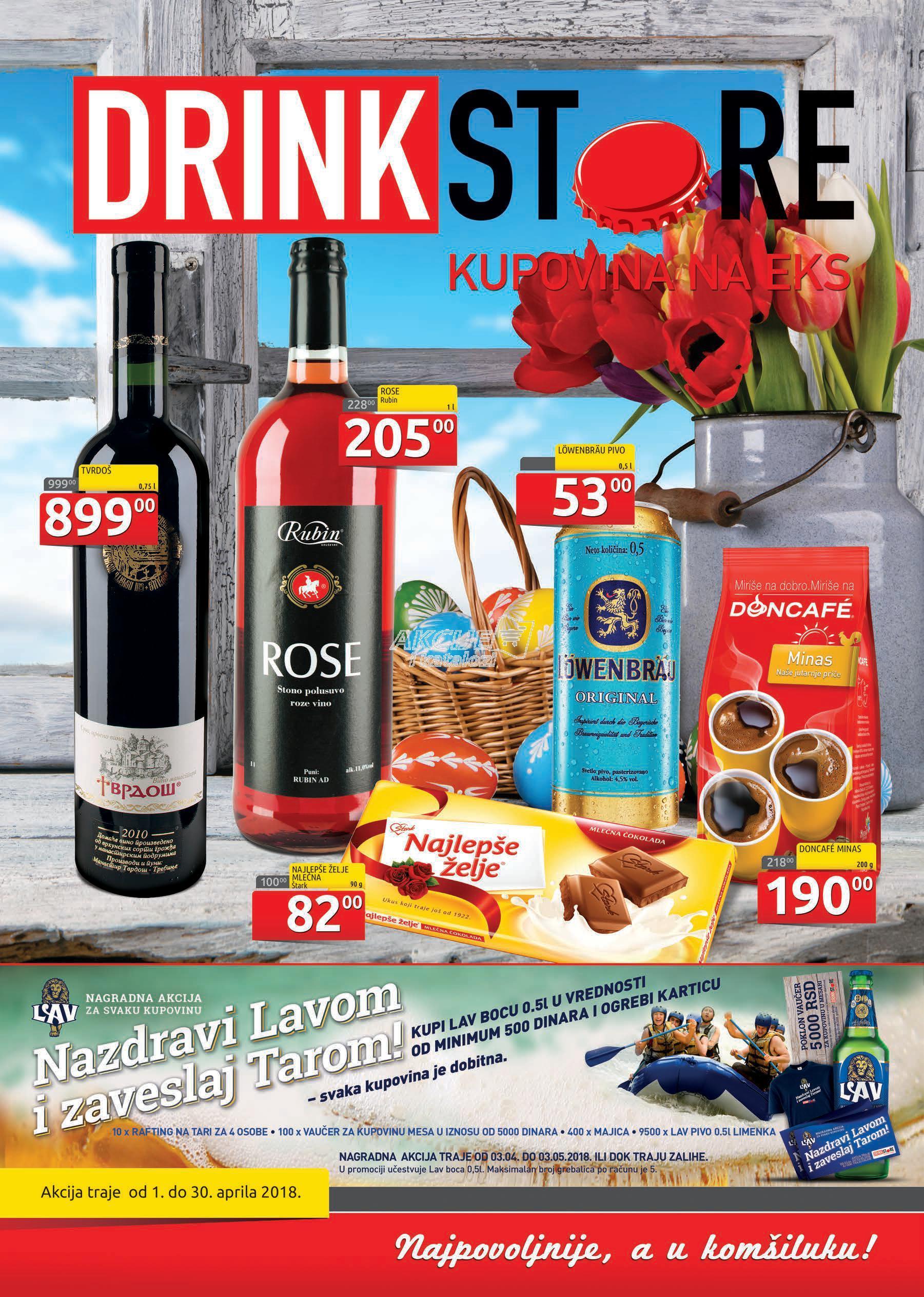 Drink Store akcija aprilske kupovine