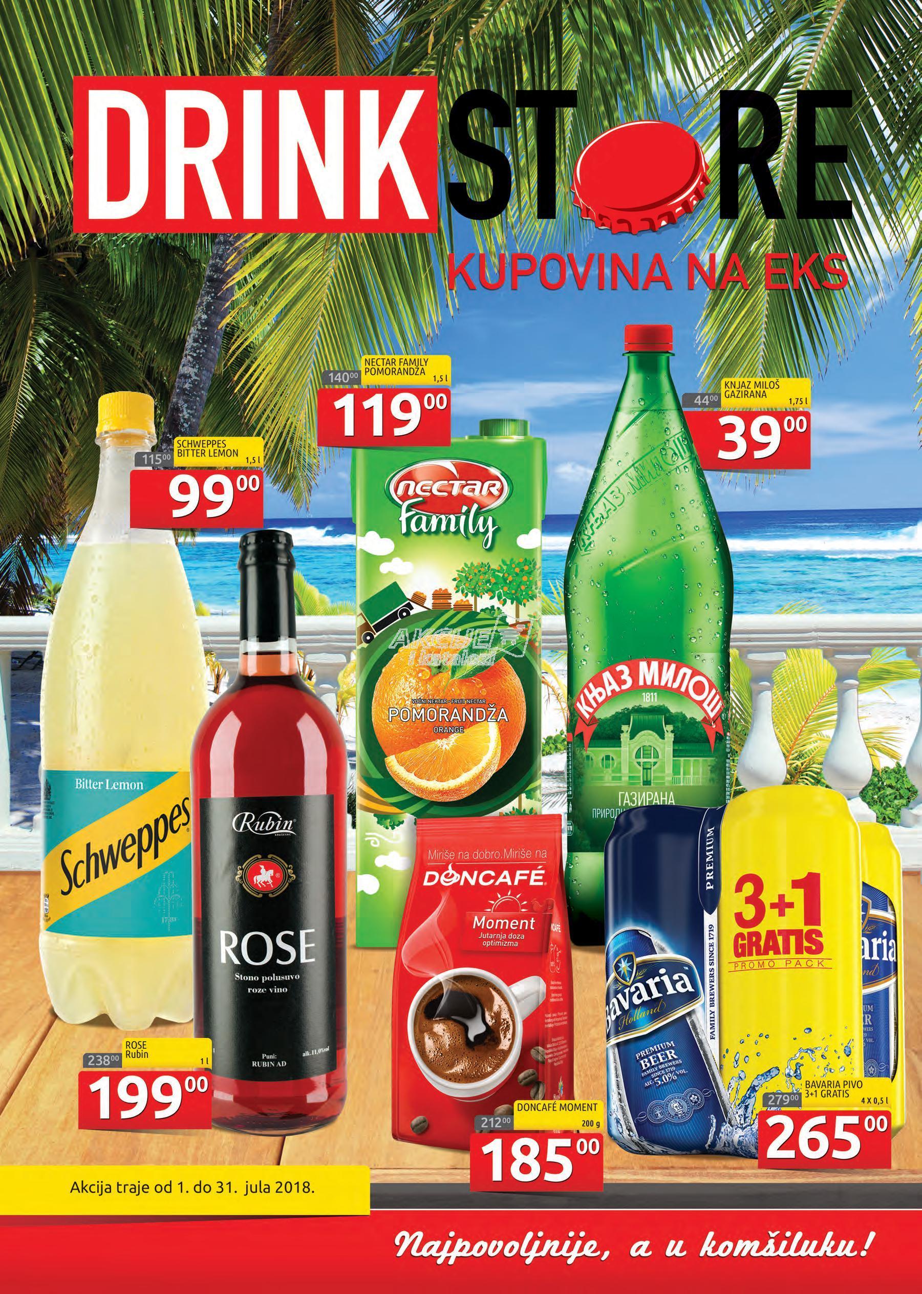 Drink Store akcija letnje kupovine