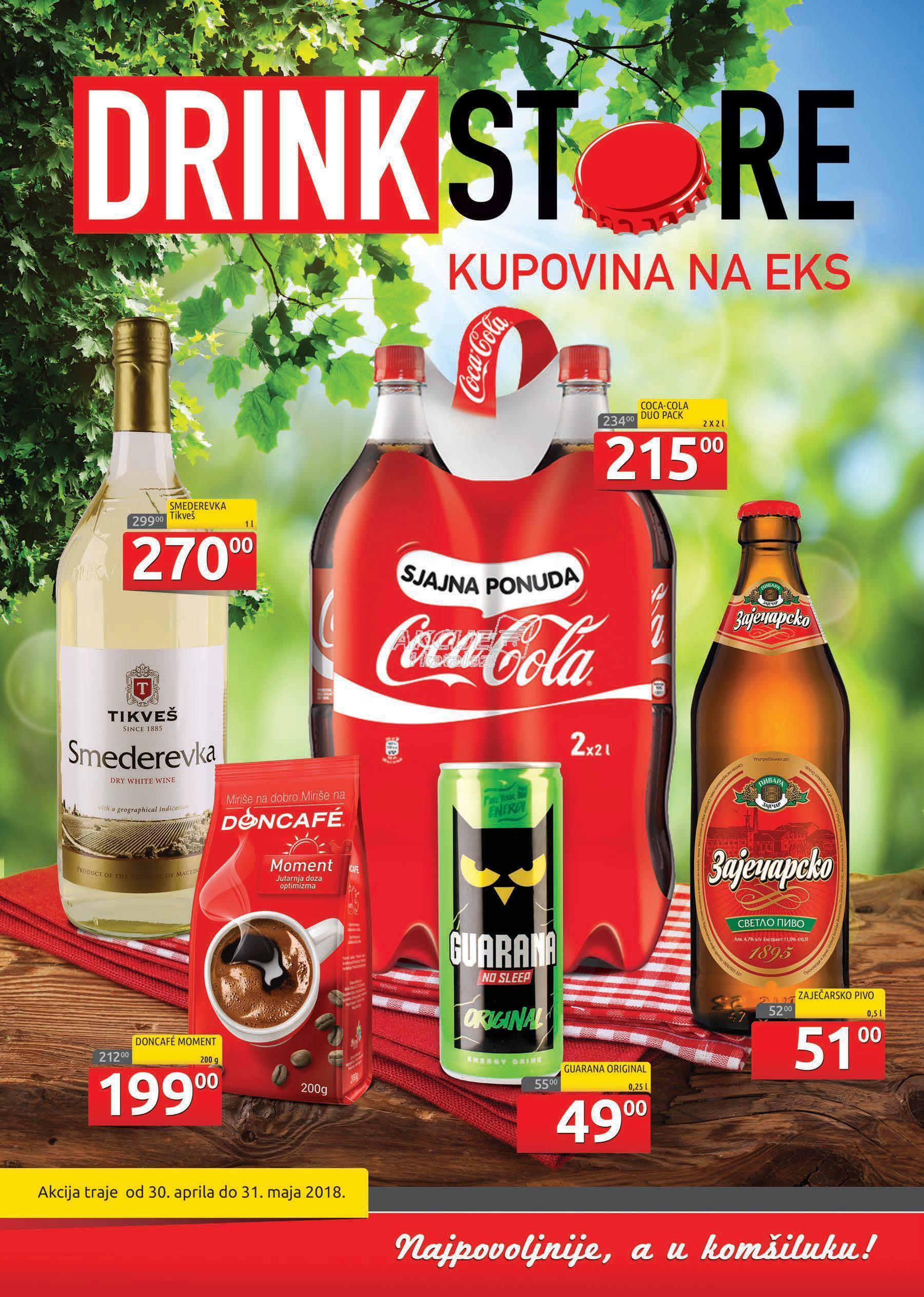 Drink Store akcija majske kupovine