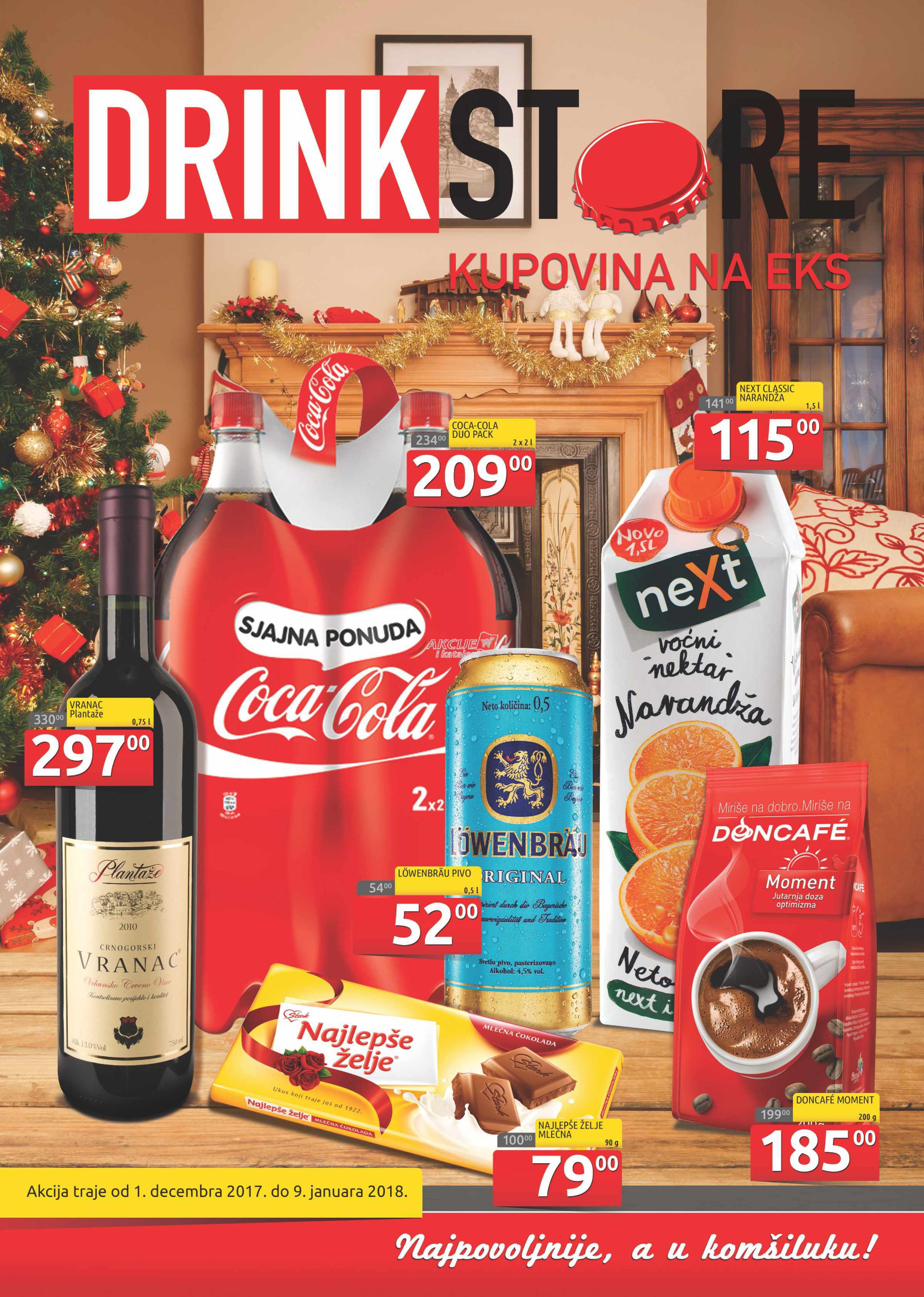 Drink Store - Redovna akcija praznične kupovine