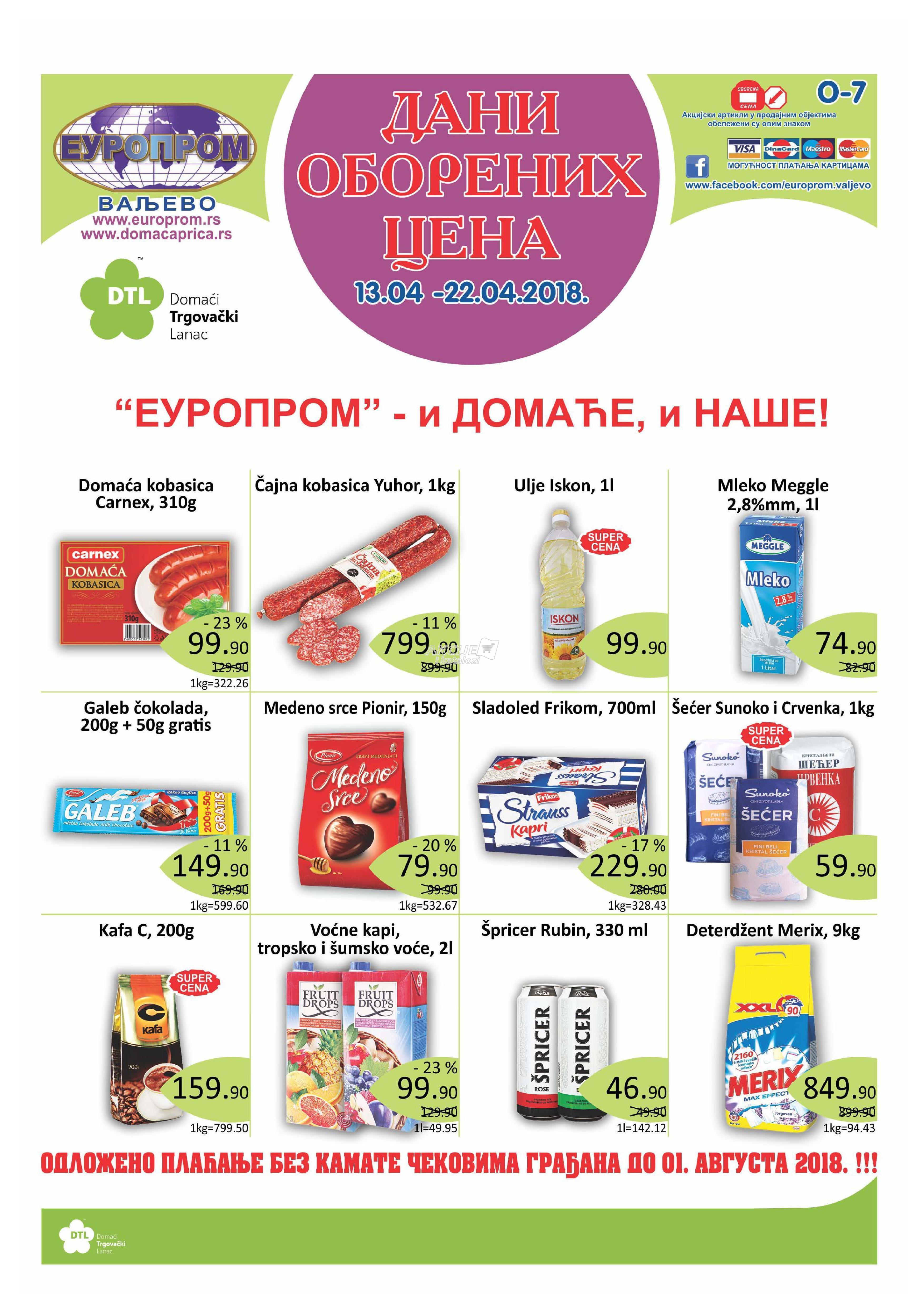 Europrom - Redovna akcija dani super cena