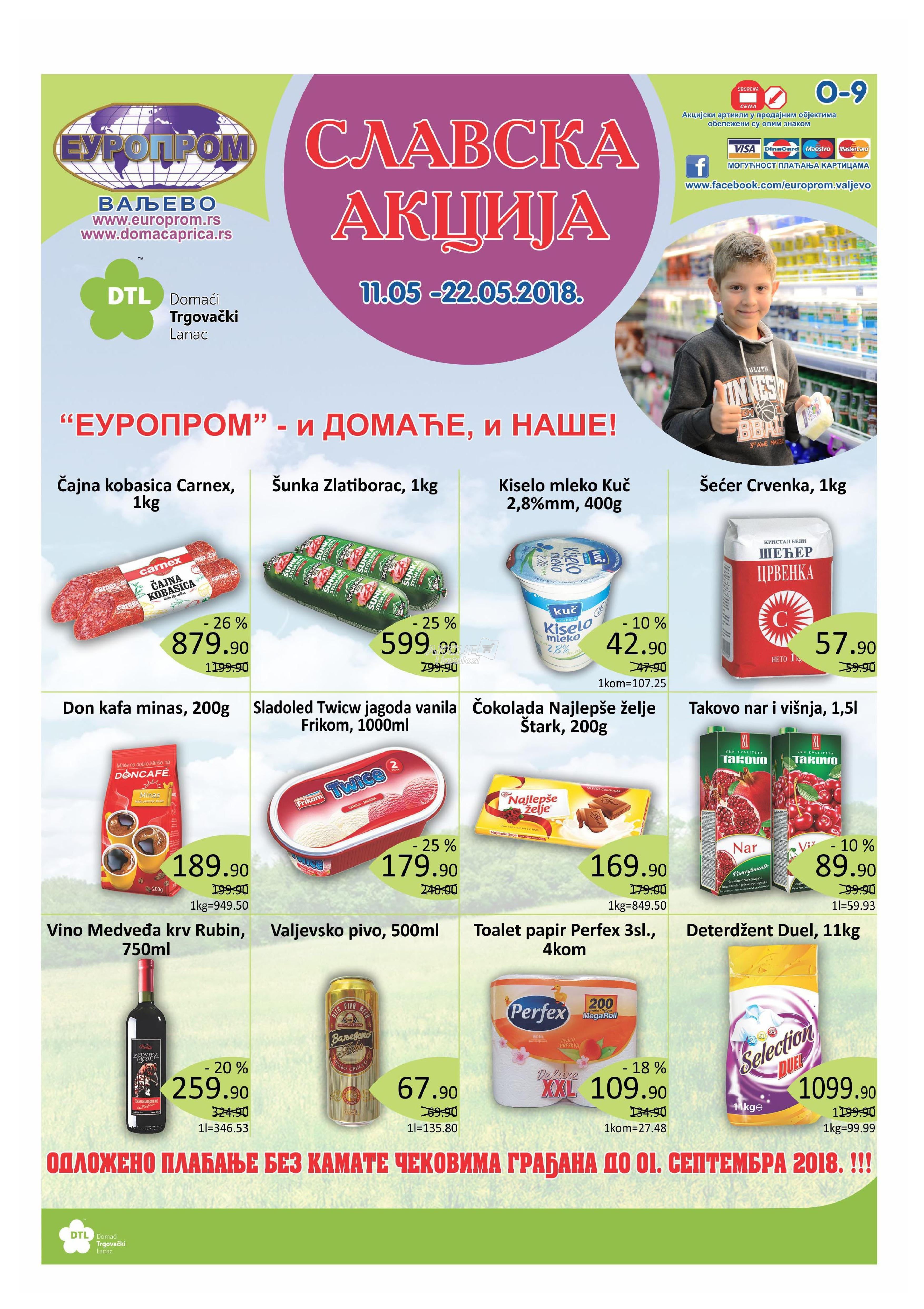 Europrom akcija slavske kupovine