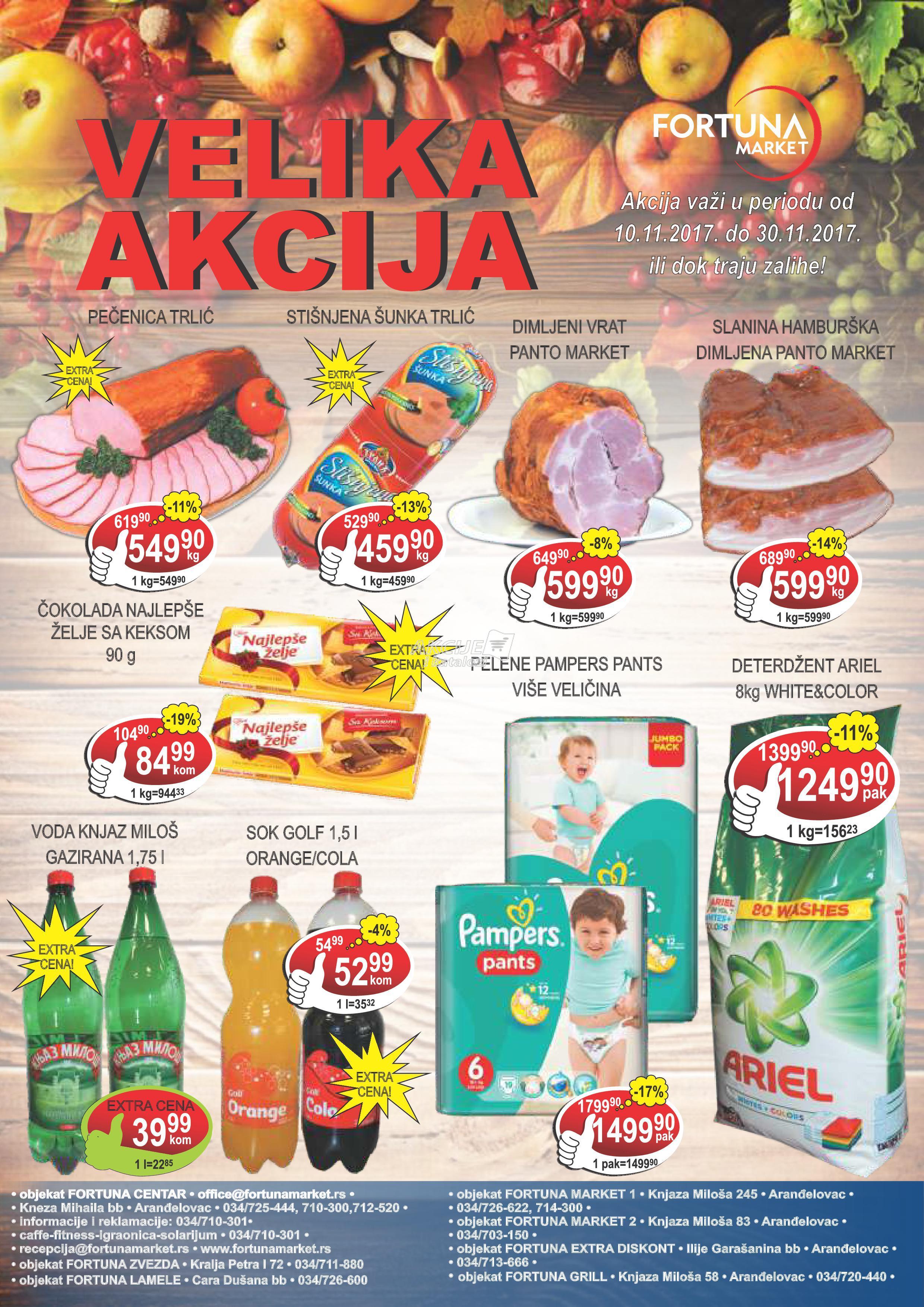 Fortuna market akcija super kupovine