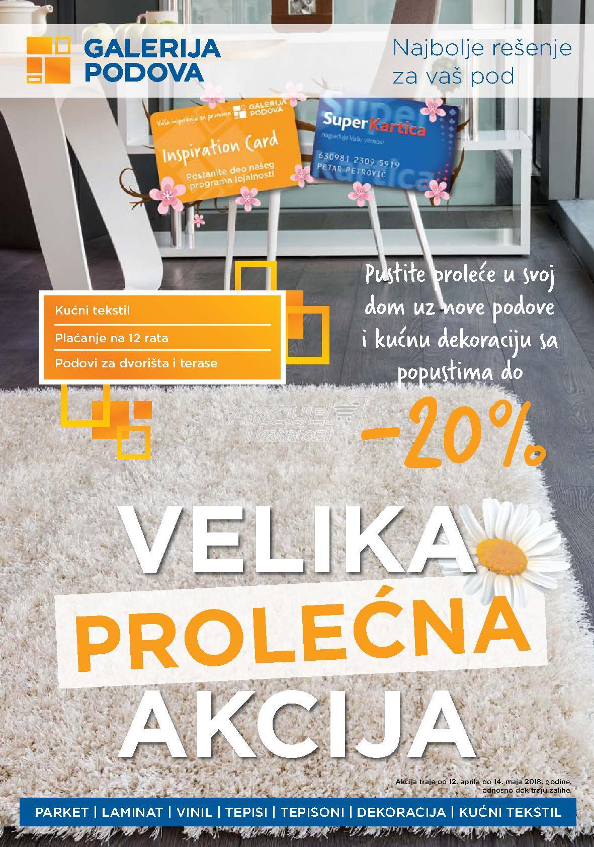 Galerija podova - Redovna akcija prolećne kupovine