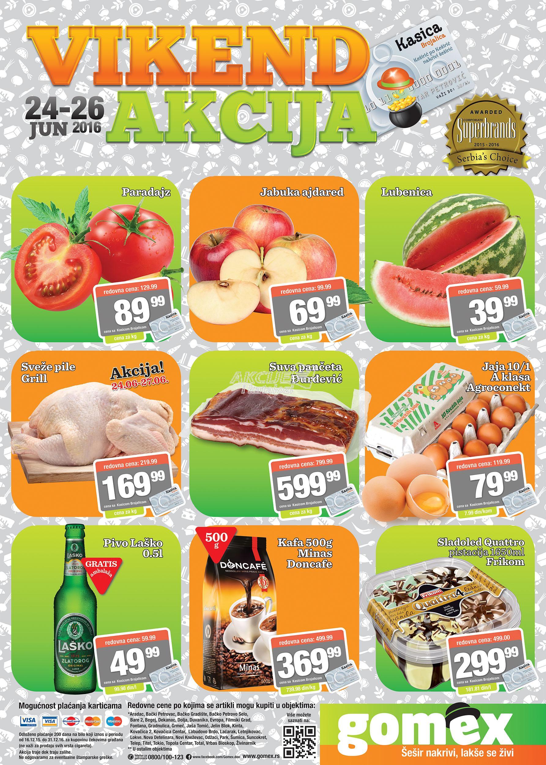 Gomex akcija vikend super cena