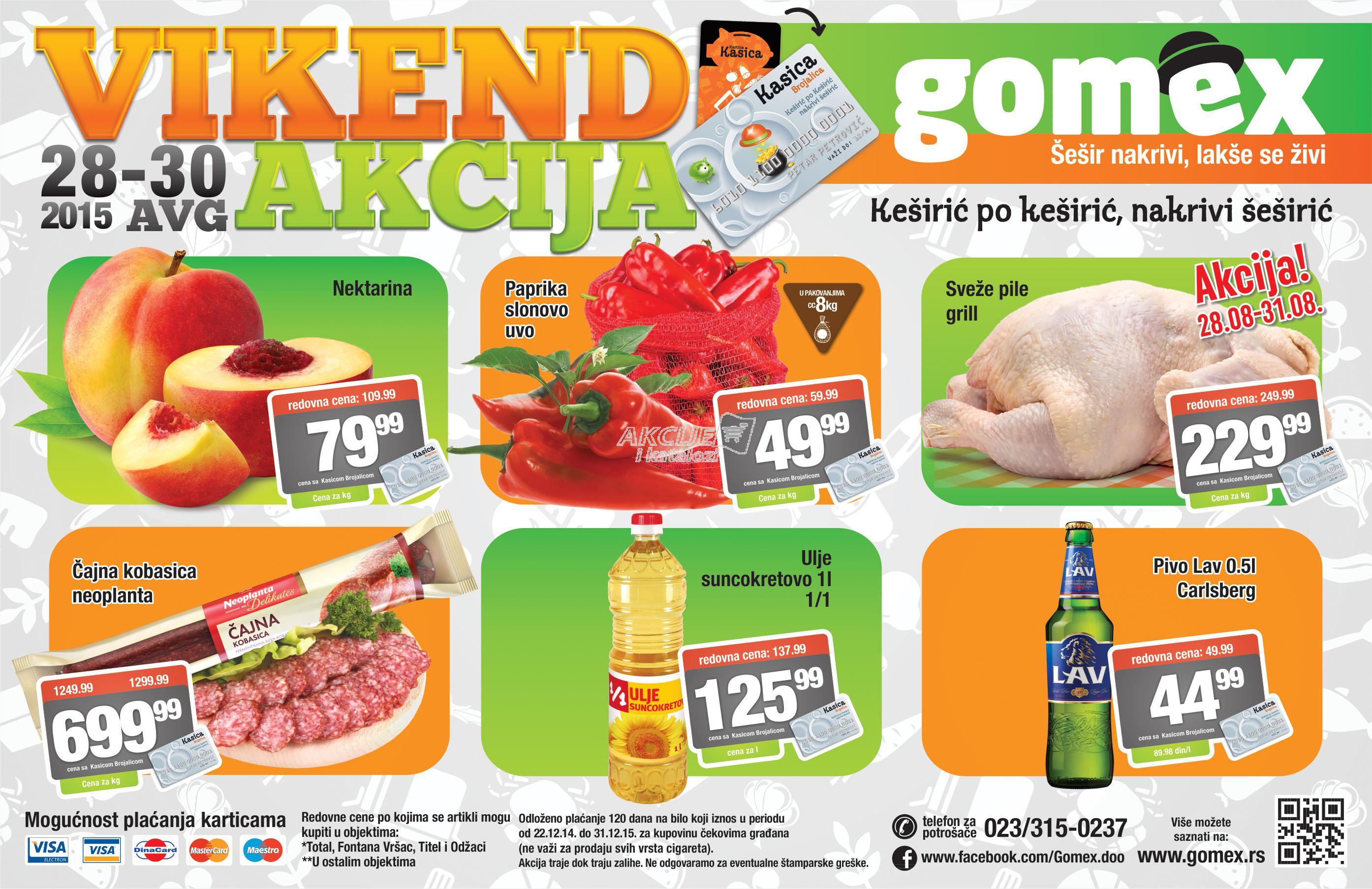 Gomex - Vikend akcija super kupovine