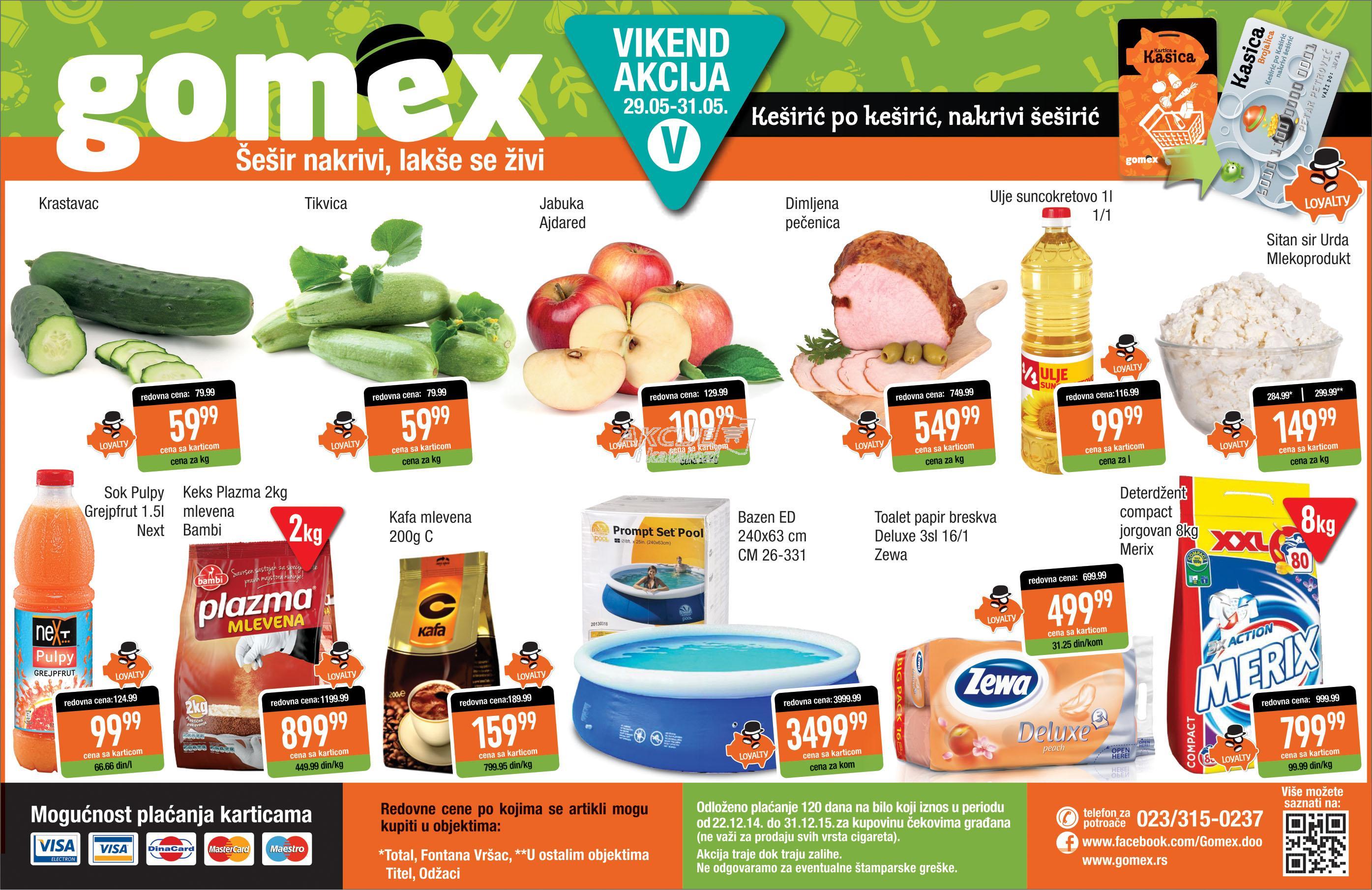 Gomex akcija vikend super kupovine