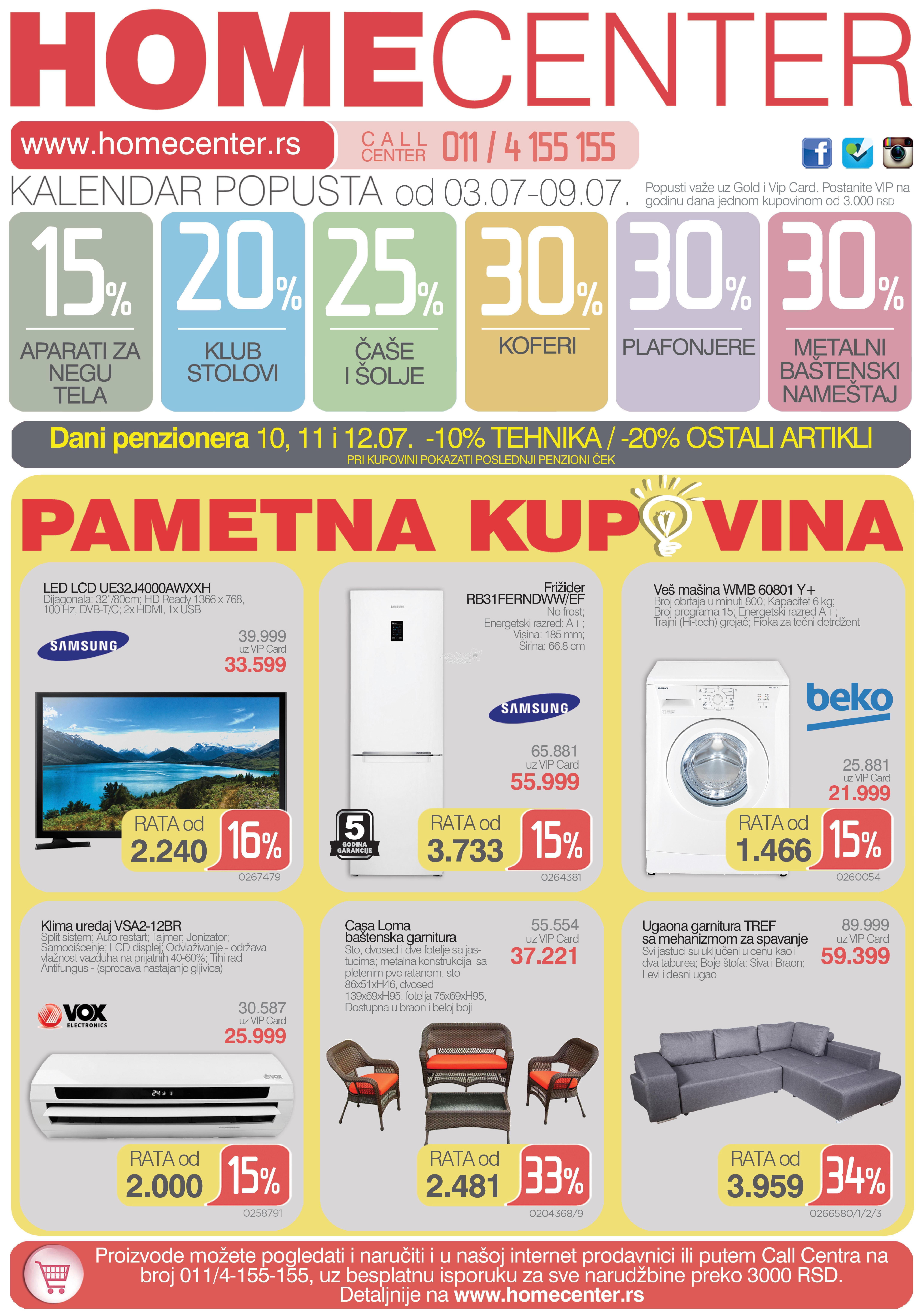 Home Centar akcija nedeljne kupovine