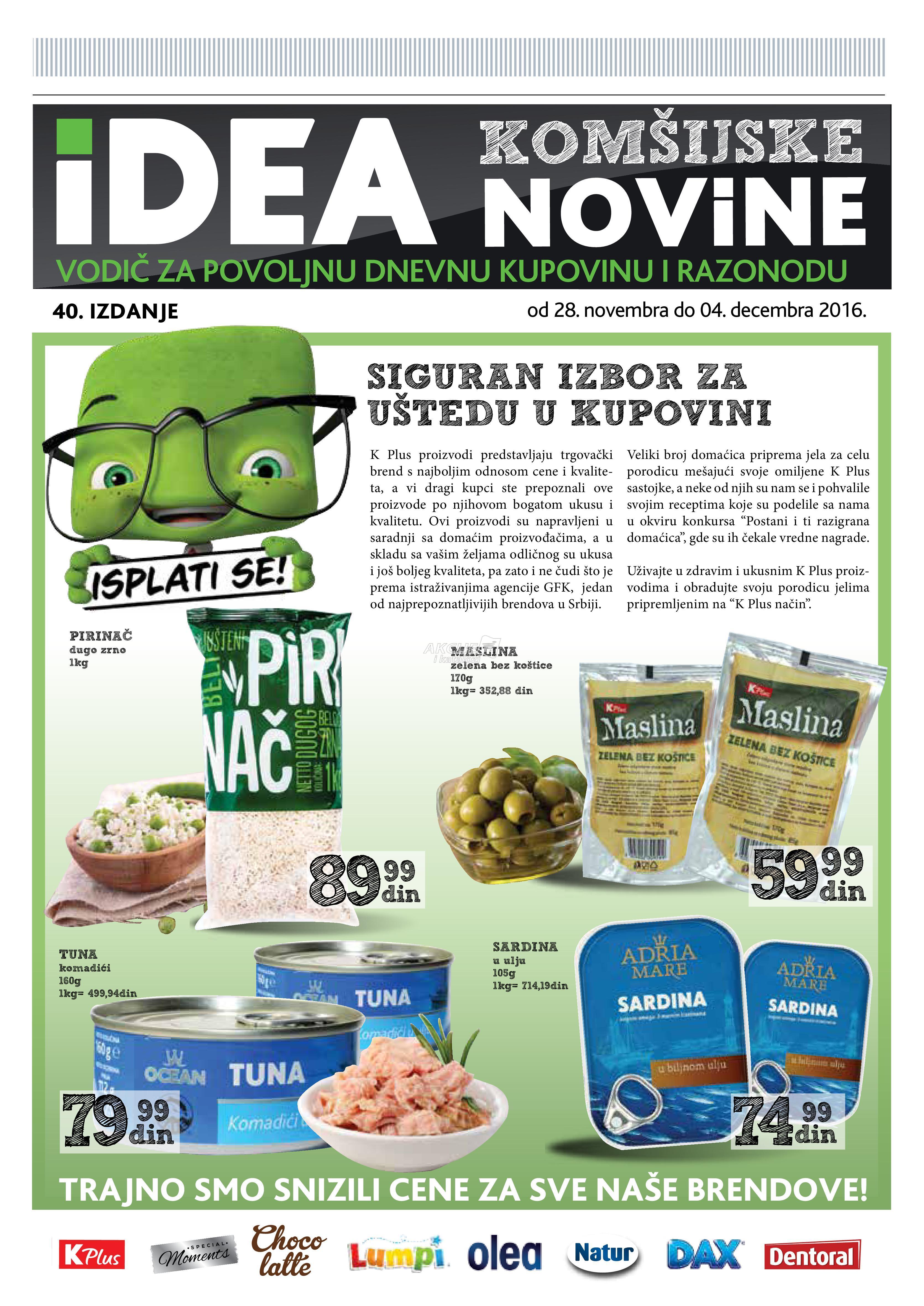 Idea akcija K Plus komšijske novine