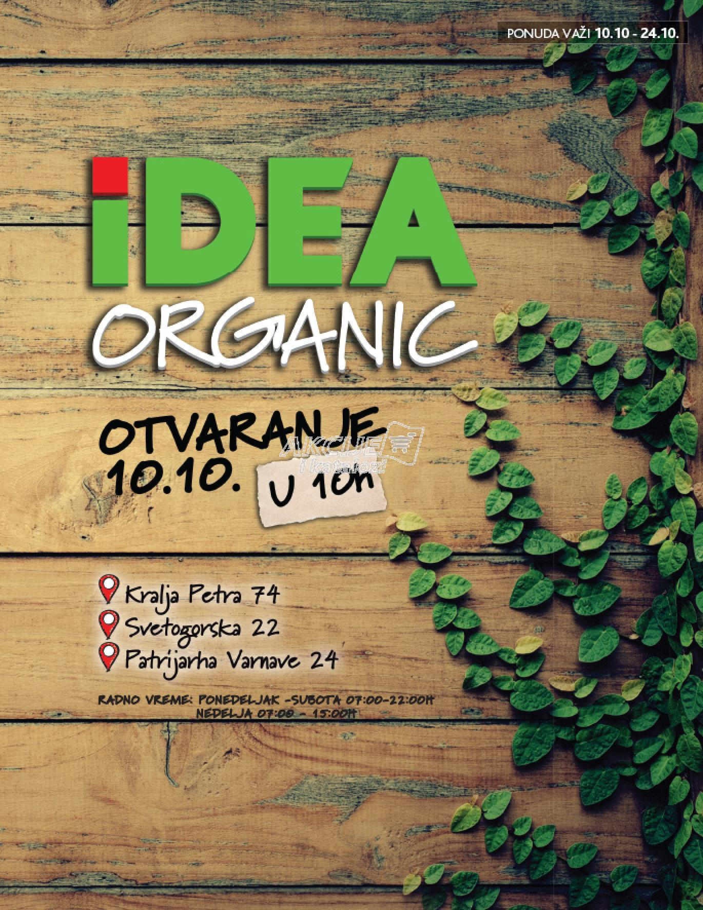 Idea akcija organic