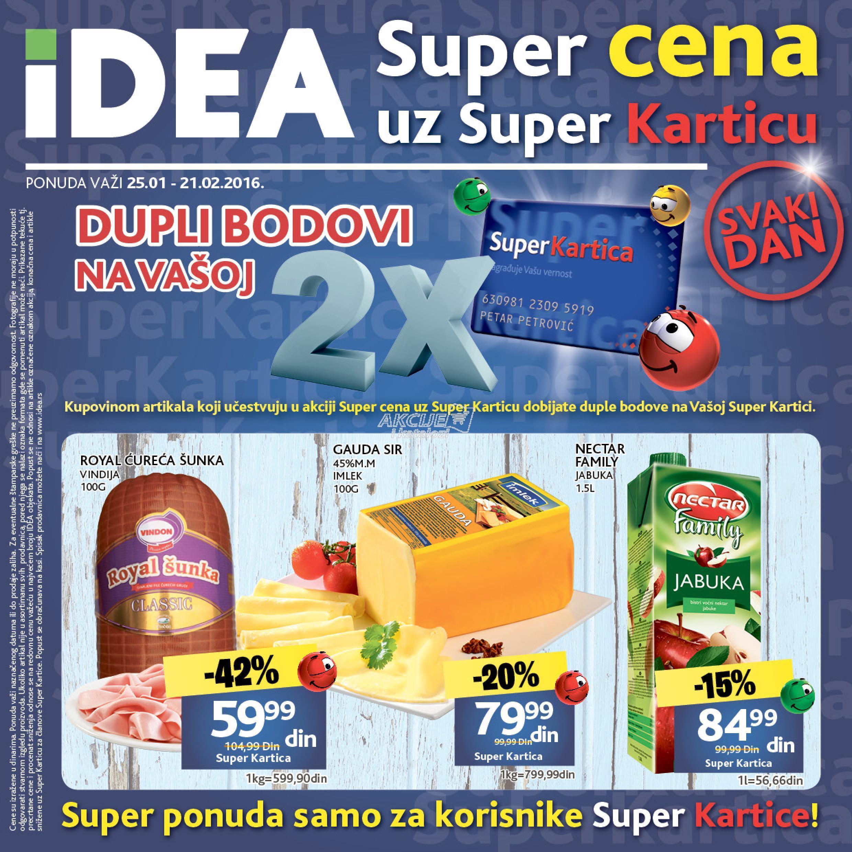 Idea akcija super cene uz Super karticu