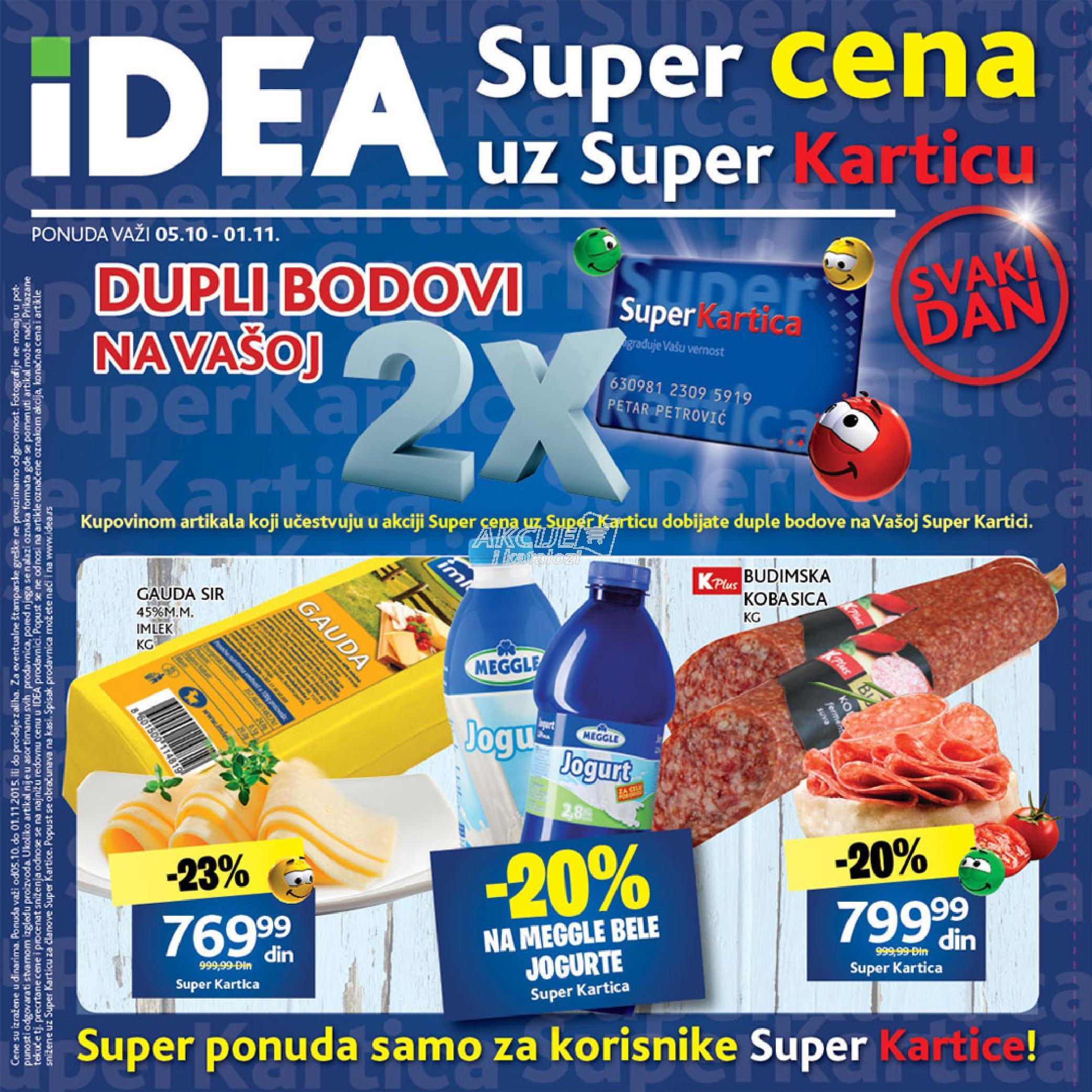 Idea - Redovna akcija super cene uz super karticu