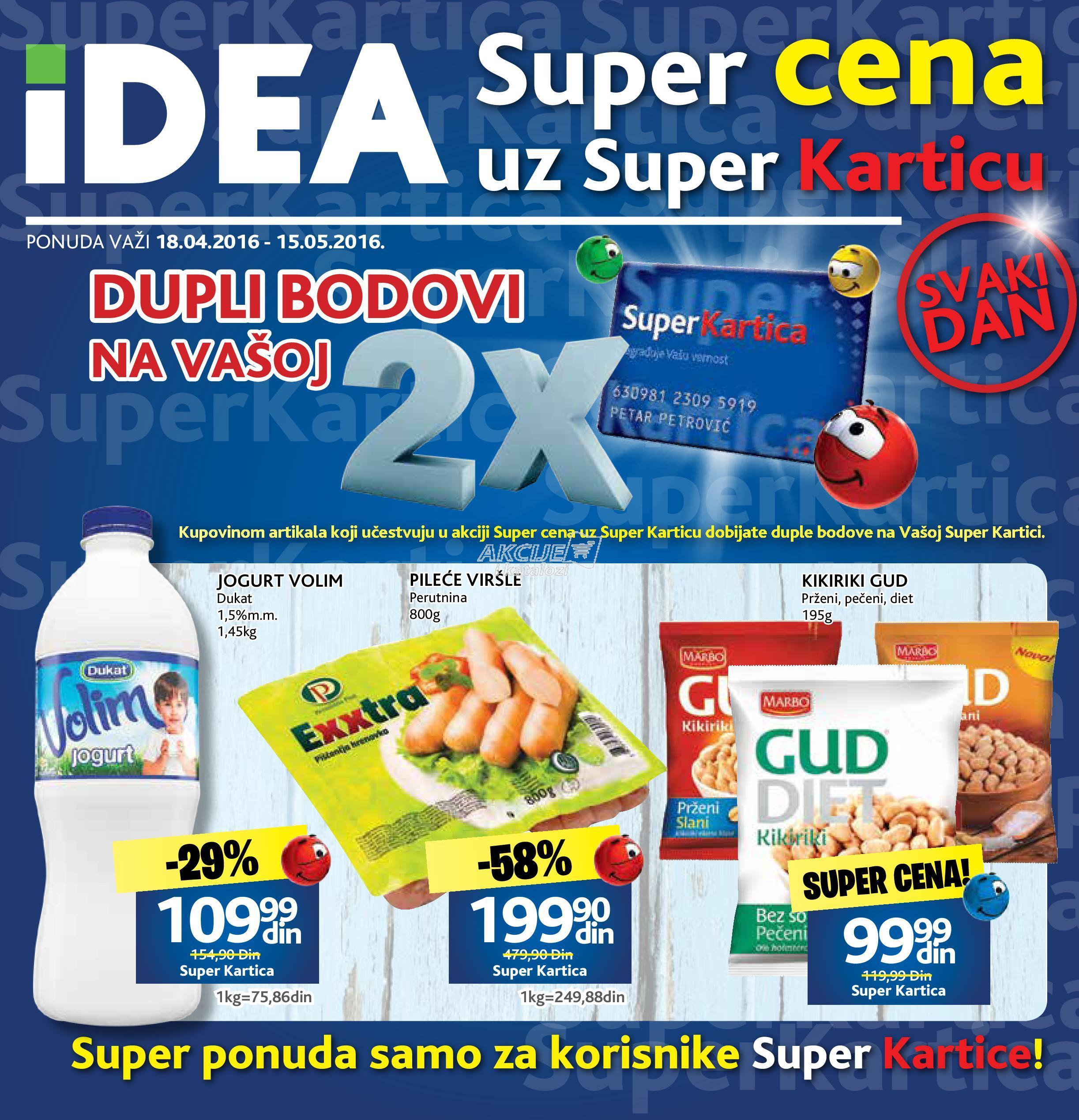 Idea - Redovna akcija Super kartica