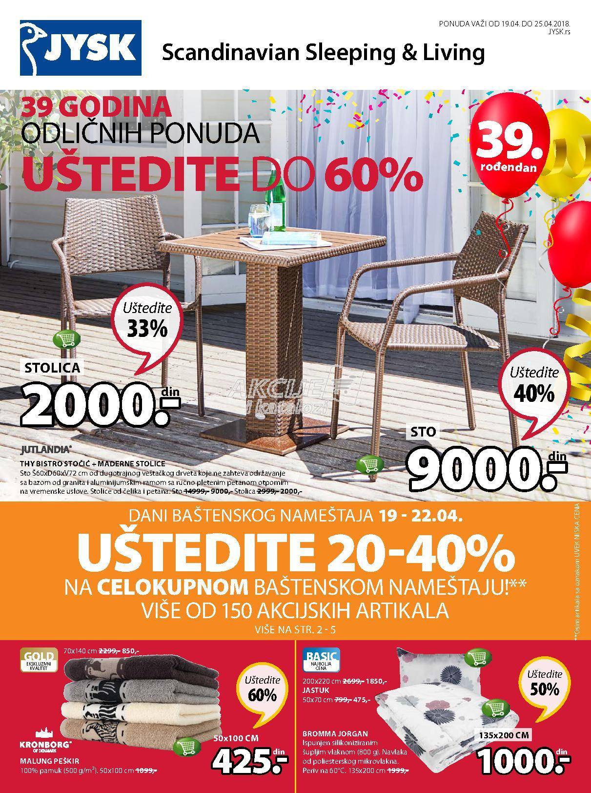 JYSK - Redovna akcija nedeljne kupovine