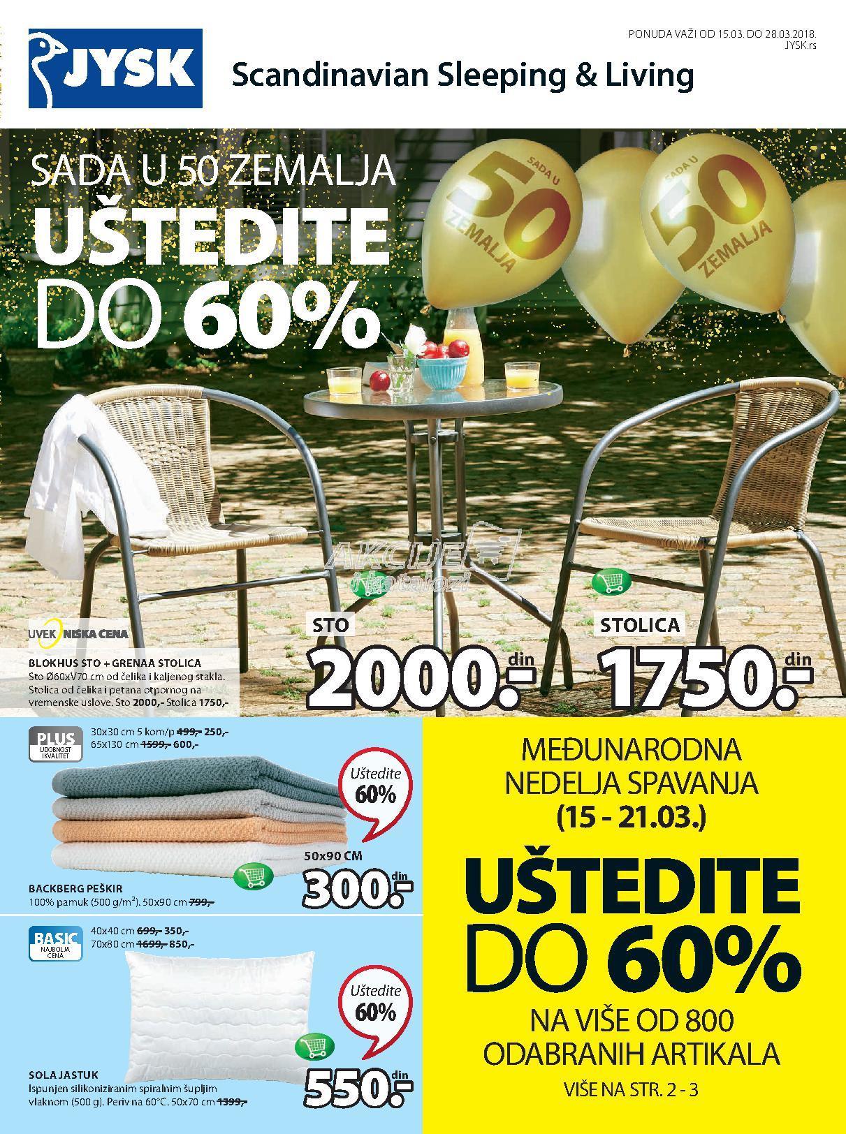 JYSK - Redovna akcija odlične kupovine