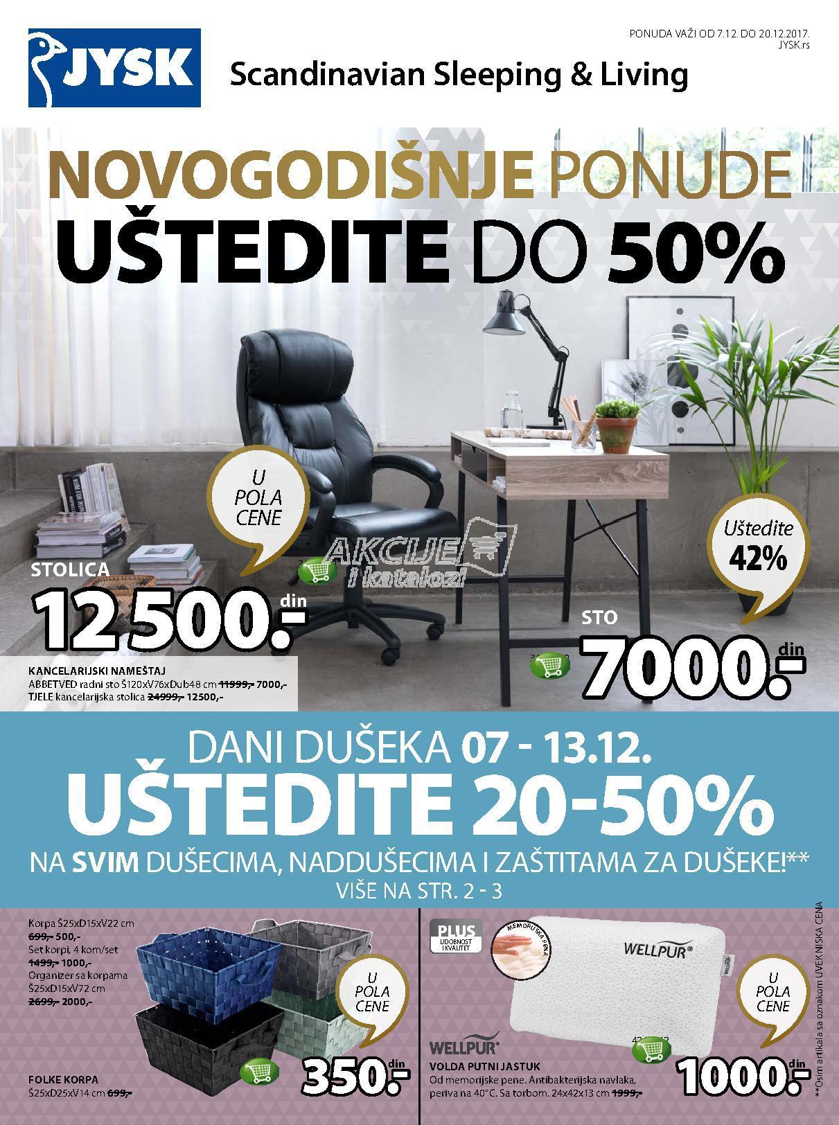 JYSK - Redovna akcija praznične kupovine