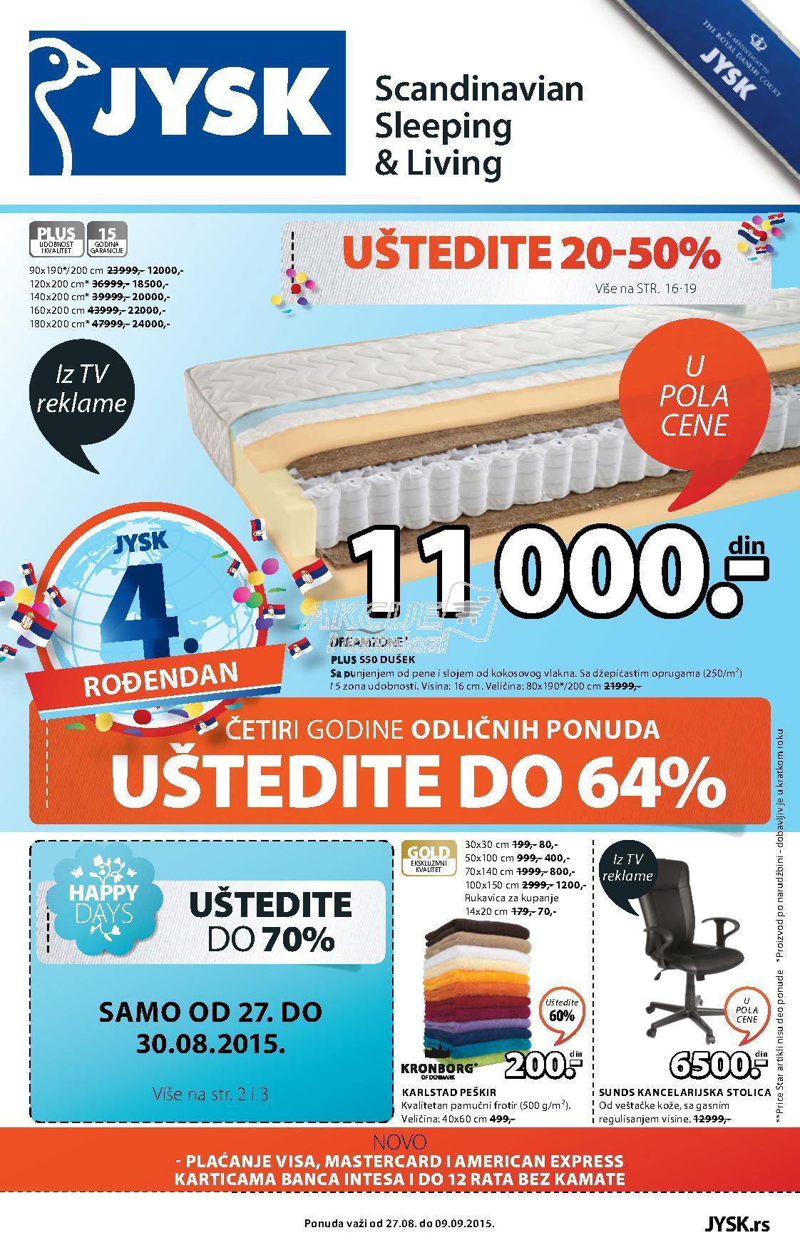 JYSK - Redovna akcija super kupovine