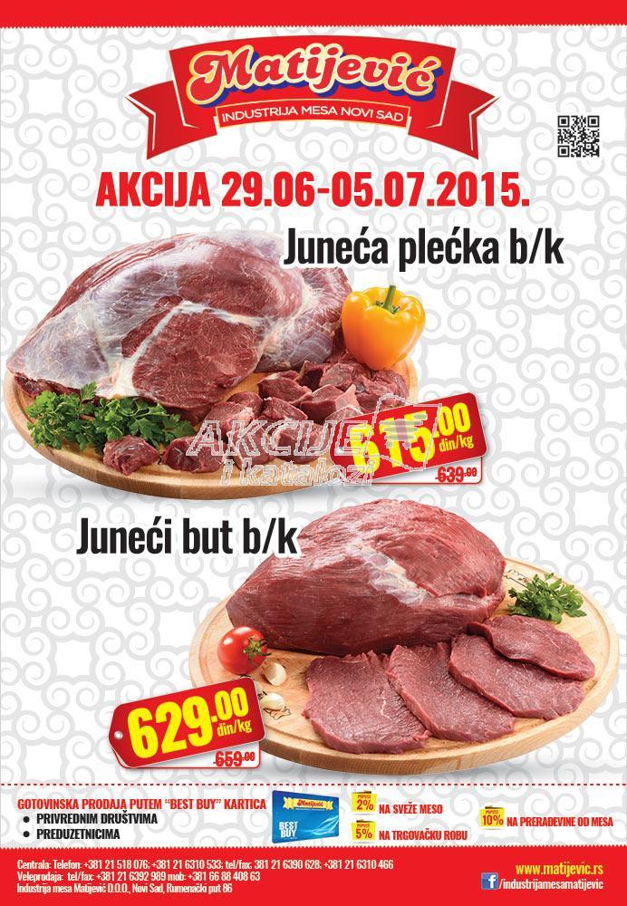 Matijević - Redovna akcija juneće meso na sniženju