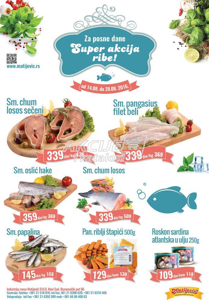 Matijević - Redovna akcija riba