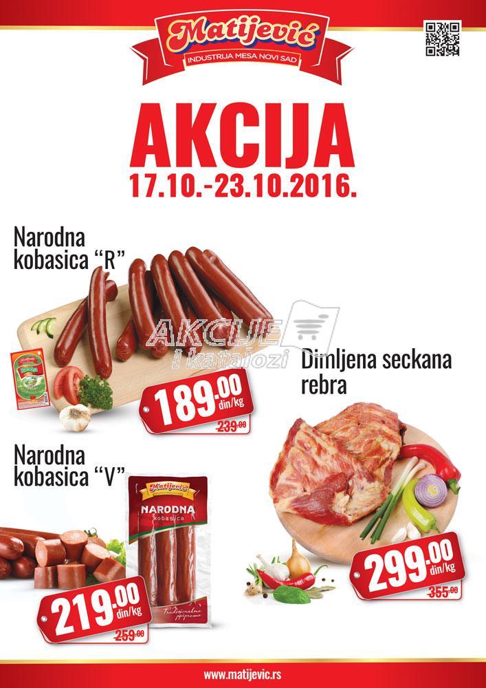 Matiejvić - Redovna akcija sniženje kobasica